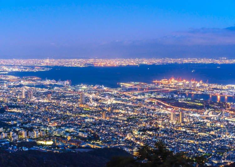 兵庫自由行必住-猶如寶石般的神戶美麗夜景