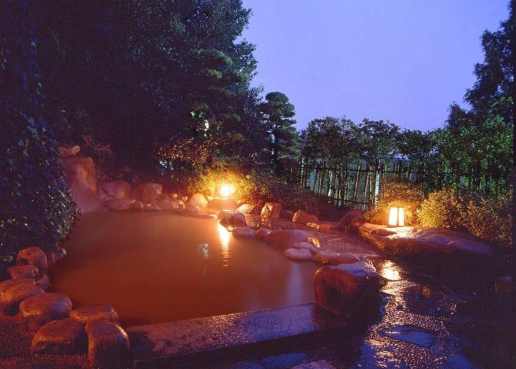 さまざまなタイプの温泉が揃う「兵衛向陽閣」