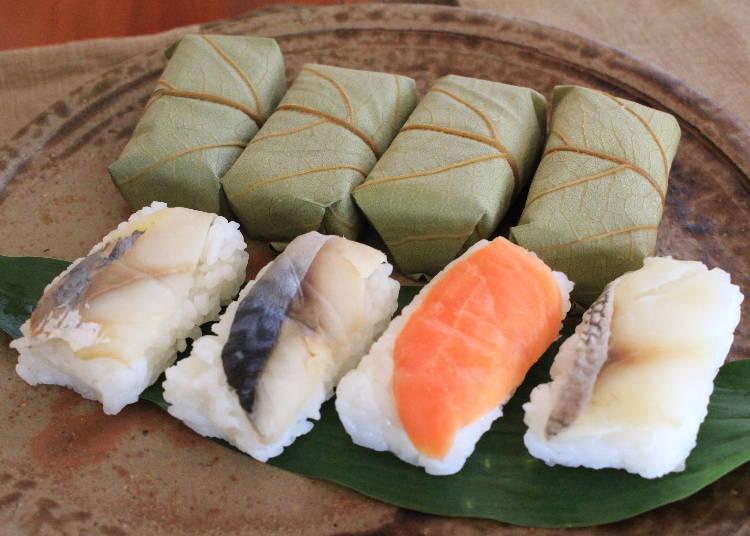 가키노하즈시(감잎 초밥)는 나라의 대표적인 음식