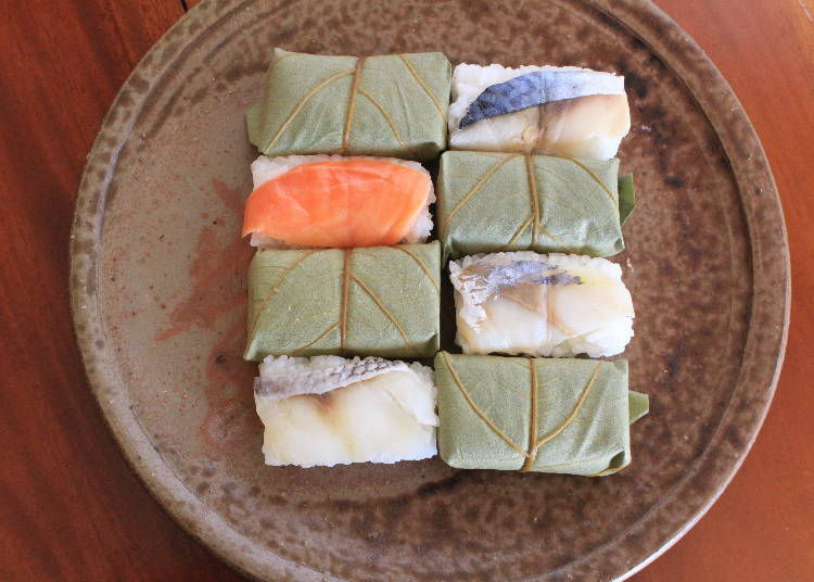 2. Persimmon leaf sushi: Try a traditional fermented taste