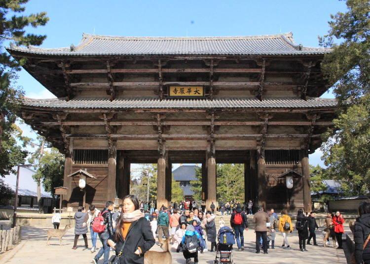 Kongo Rikishi Statues Guard the Todai-ji main gate, the Great South Gate