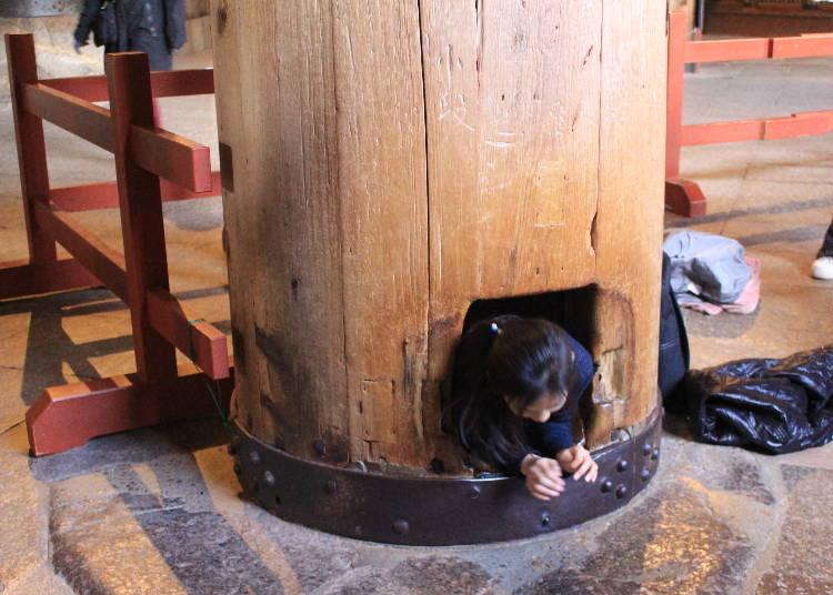 柱の穴くぐりをしよう