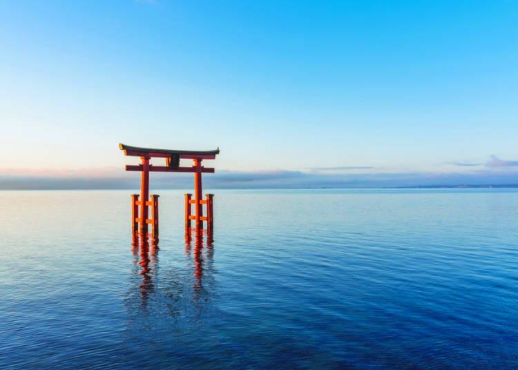 4. Bonus! Lake Biwa's Floating Torii Gate