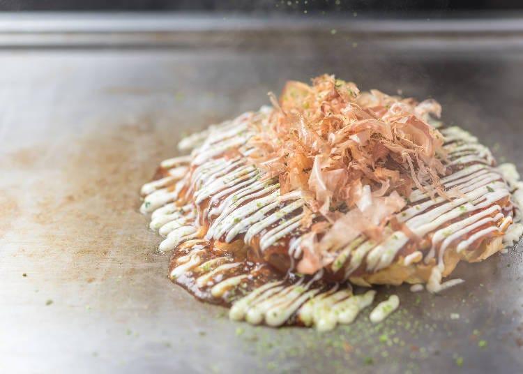 5. Late-night snack: Takoyaki octopus dumplings and okonomiyaki pancakes!