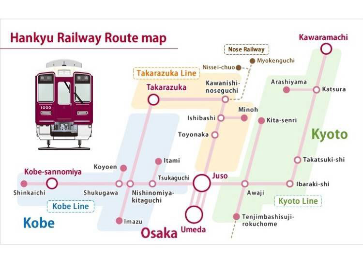 1. The Only Private Railway Connecting the Three Major Cities! Hankyu Railway