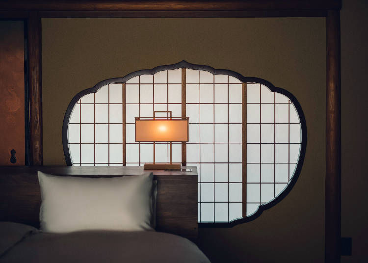 Hotel Sowaka Kyoto's main building is in the charming Sukiya architectural style