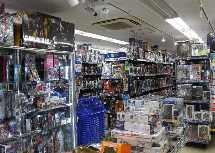 A wide array of popular anime figures and models