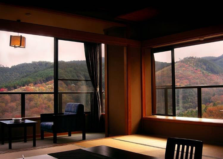 2. Yumato Hounoya: Superb view from an elevated Nara onsen bath