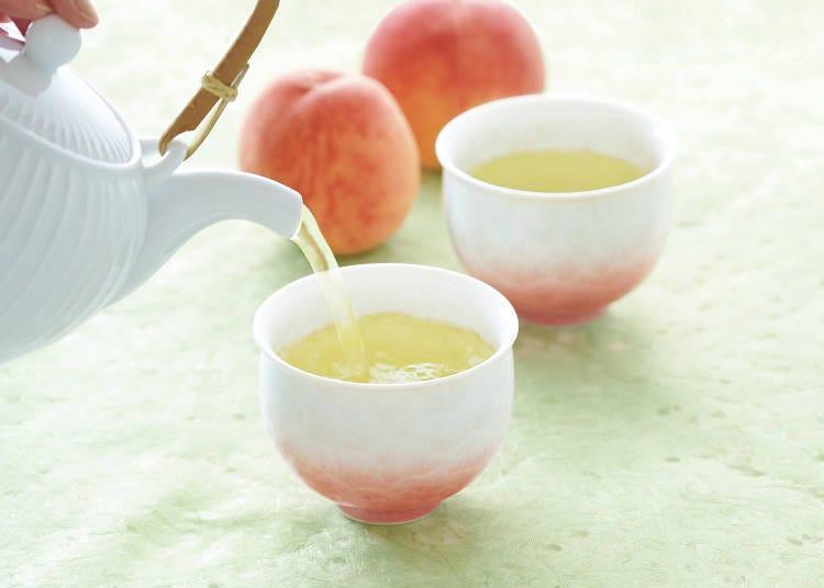 みずみずしく香り立つ、白桃と日本緑茶のマリアージュ 「ルピシア 白桃煎茶」