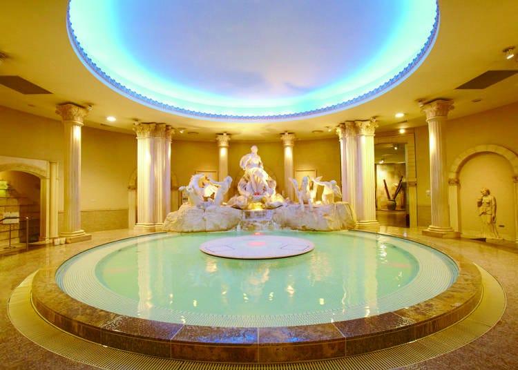 Spa World offers internationally-themed hot springs!