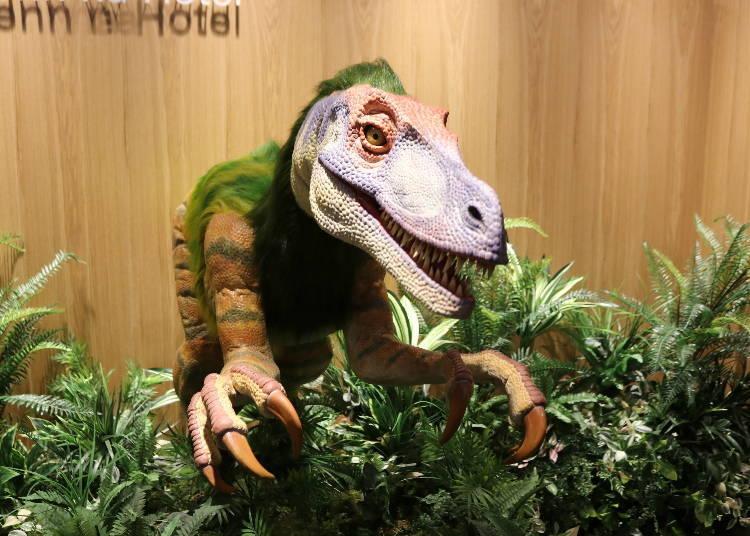 """공룡 로봇이 """"이랏샤이마세~(어서 오세요)"""""""