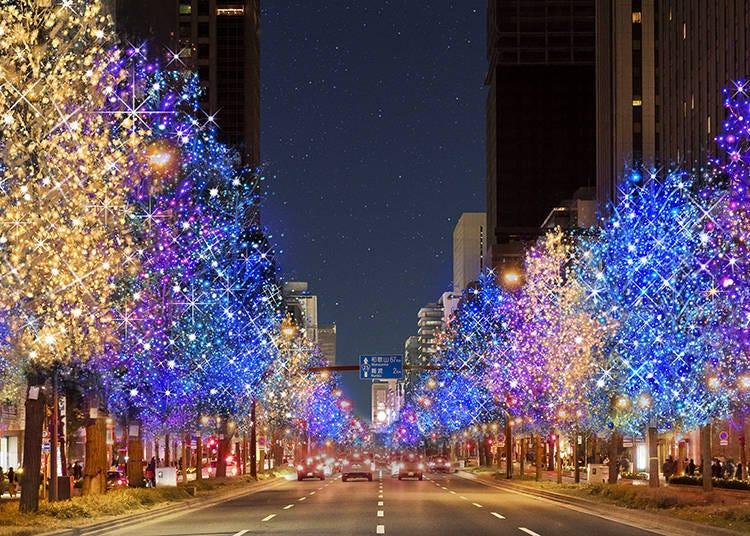 3. 大阪街道燈飾閃耀繽紛光芒「大阪・光之響宴2020」【大阪】
