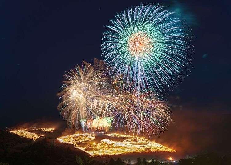 일본 나라의 전통행사 '와카쿠사 야마야키' 숨막히게 아름다운 겨울 불꽃과 '붉게 타오르는 산'