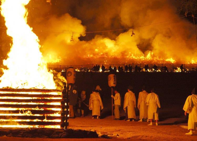 若草山燒山祭當天的活動日程