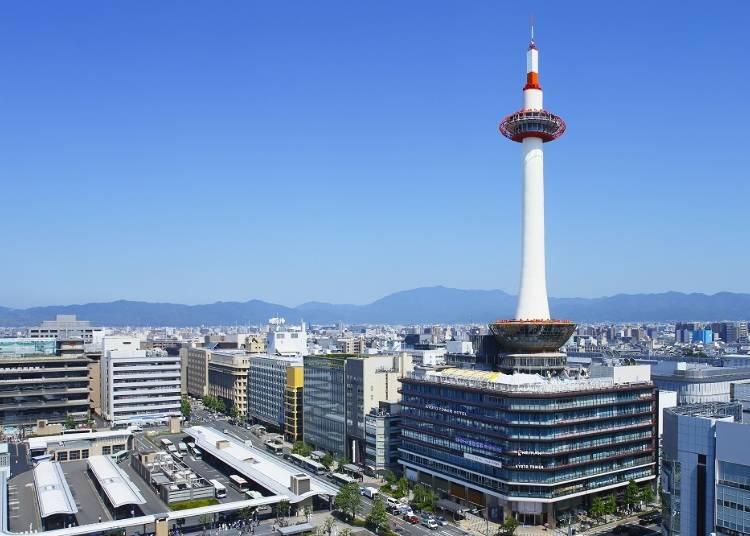 「京都タワー」から360度パノラマの眺望を(所要時間:30分)