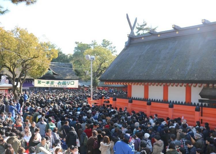 3. Experience the Osaka New Year Holiday at the Sumiyoshi Taisha Shrine