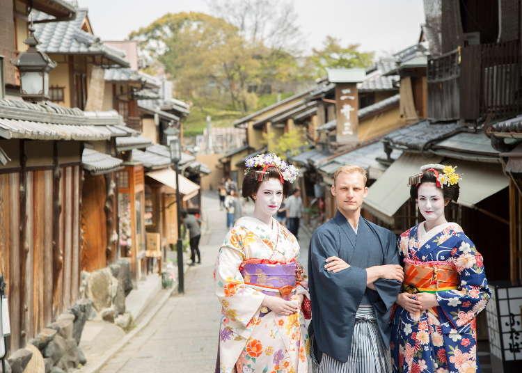 外国人にも大人気!憧れの舞妓さんに変身して、京都の町を散策