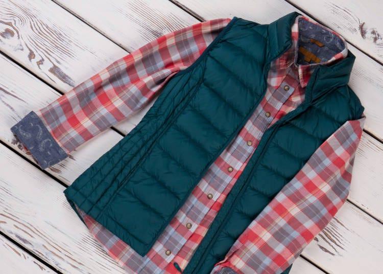 (3)「重ね着」はゆとりのあるものを