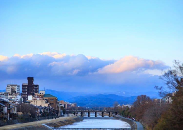 교토의 겨울철 날씨