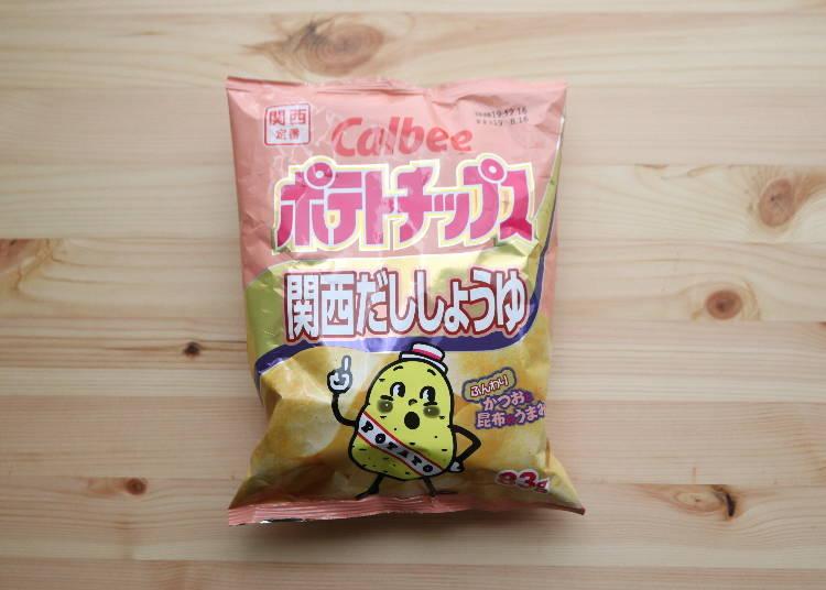 4. Calbee's Kansai Soy Sauce potato chips