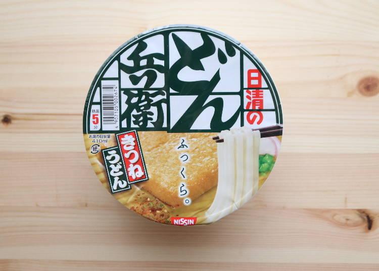 1:日清食品のカップ麺「どん兵衛」