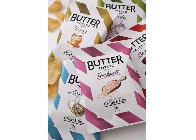 4 'UMEDA DE COW Chips&Tips'의 버터 포테이토칩