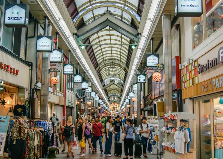 10:雨を気にせず買い物できる商店街