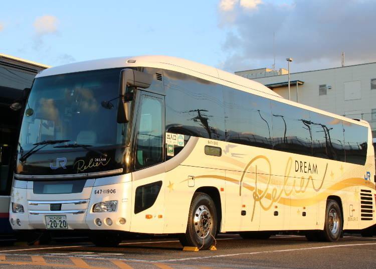 """1. JR Night Bus """"Dream Relier"""" (West JR Bus/JR Bus Kantō)"""