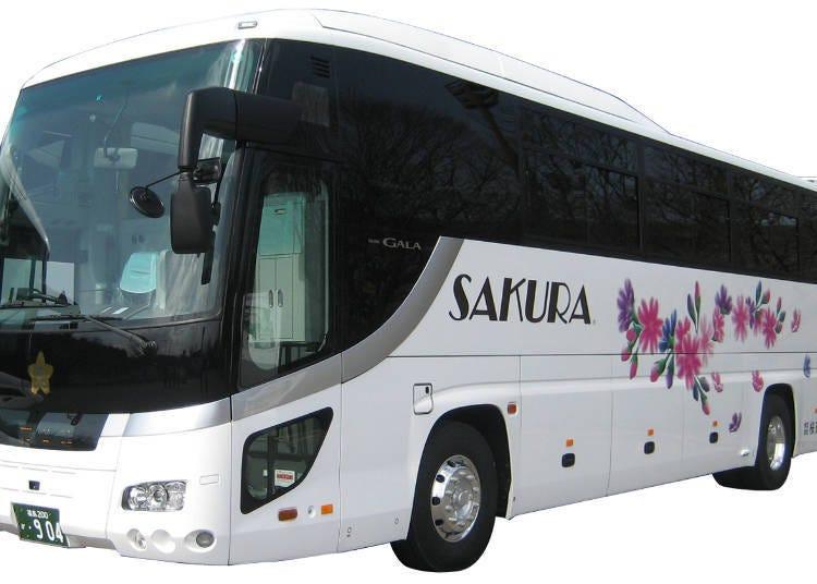4. 價格實惠、車內設備卻很齊全的「櫻花觀光巴士」(櫻花觀光)