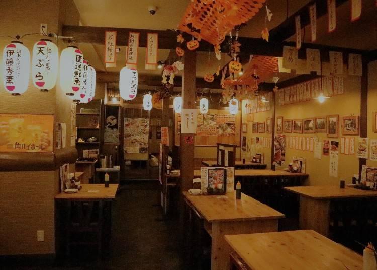 日本の居酒屋の雰囲気も楽しめる