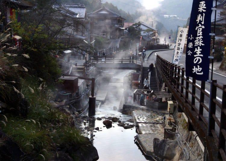 熊野本宮溫泉鄉推薦①擁有1800年歷史的「湯之峰溫泉」,散發濃厚日本風情