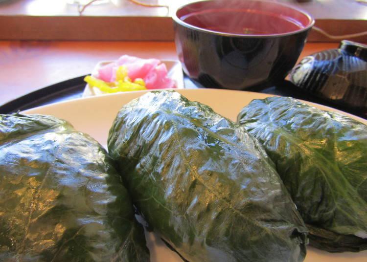 熊野本宮溫泉鄉必吃美食②古人便當「MEHARIZUSHI」