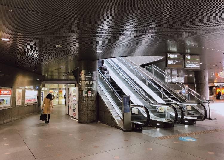 バスターミナルはJR「難波駅」の2F