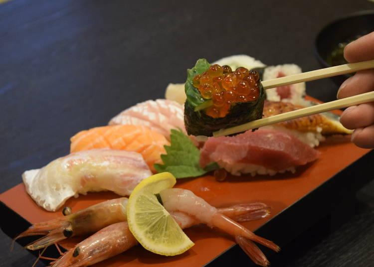 1. Sushimasa: With 58 years of history, taste true Osaka sushi skill! (1,000 yen / Tenjinbashisuji)