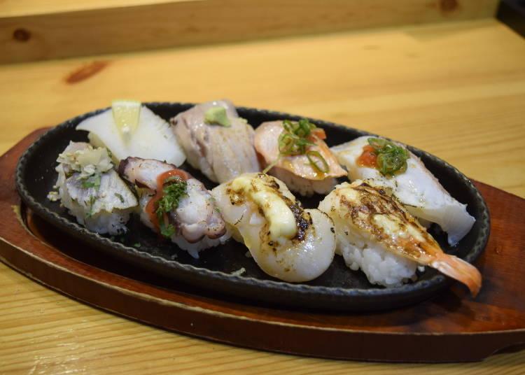 3. 8칸 1,400엔! 불맛을 더해 감칠맛을 극대화한 '도키스시' (닛폰바시)