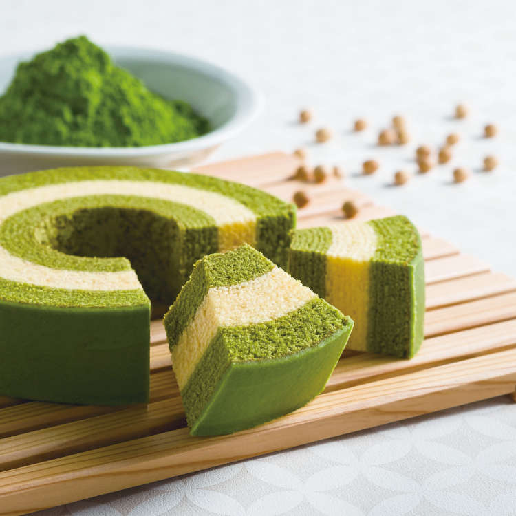 """Kyo Baum"" is the latest addition to popular Kyoto souvenirs! A blessed combination of matcha and baumkuchen"