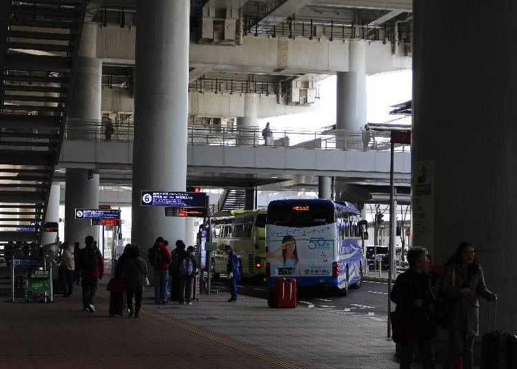 (2)バスを利用する場合