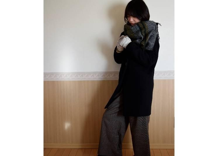 ■오사카의 2월에 알맞은 옷차림은?
