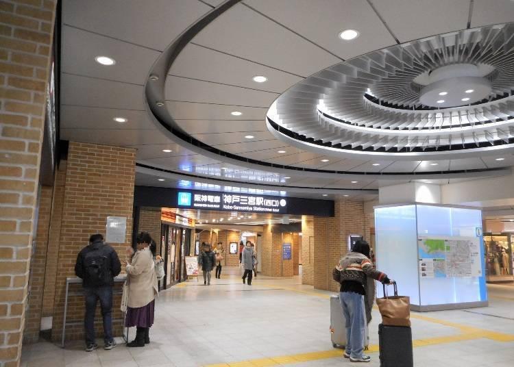 前往「元町商店街、南京町」:從JR「三ノ宮站」或阪神「神戶三宮站」到「元町站」