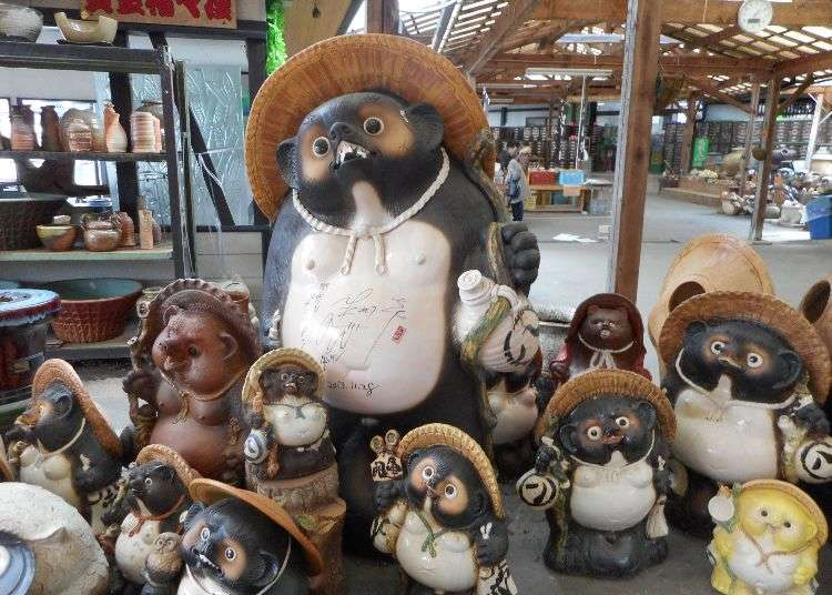 You Don't Want to Know About His 'Money Bags'! Weird, Lucky Japanese Tanuki in Shiga