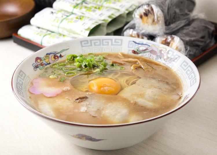 5. 首創在正統的中華拉麵中加上雞蛋的「正善」