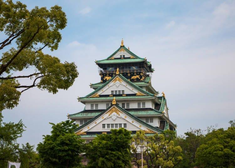 【1日目10:00】大阪城で歴史ロマンを満喫