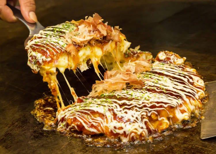 【2日目12:00】 なんばで大阪の定番グルメ・お好み焼を実食!
