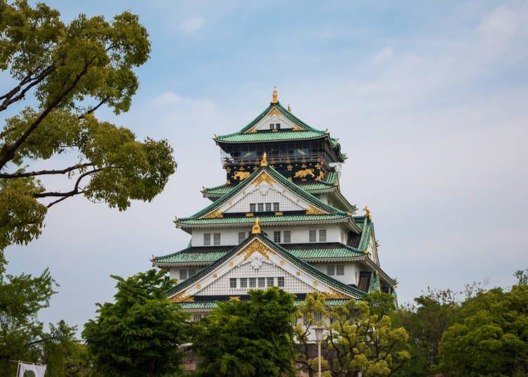 【第一天10:00】在大阪城感受歷史的浪漫