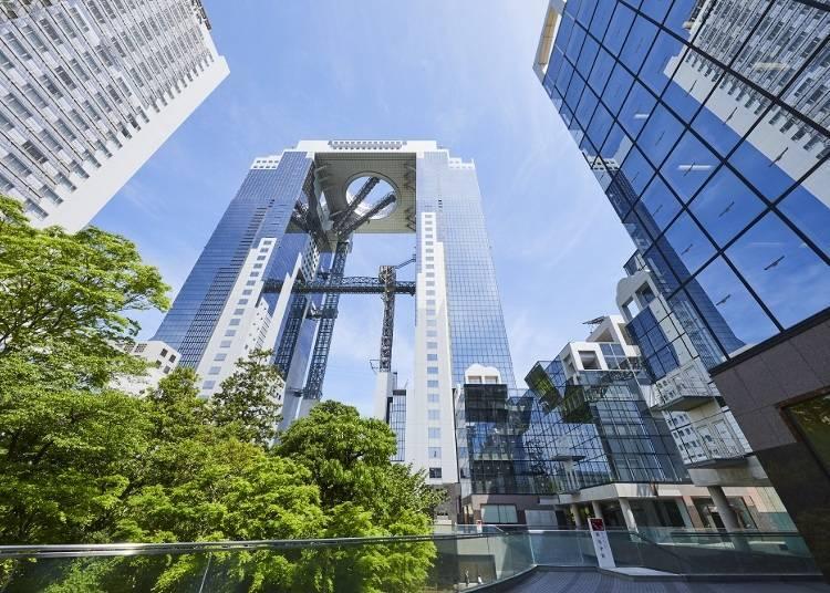 【第二天10:00】從梅田藍天大樓跳一覽大阪市街景