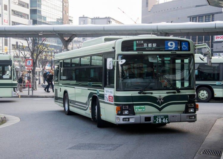 17:00 夜の祇園を楽しむ:京都市営バス「銀閣寺前」から京都市営バス「祇園」へ(乗車約21分※交通渋滞などによる遅延あり)