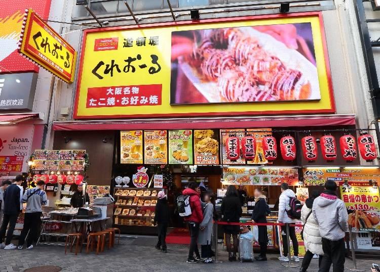 20:00〜 「くれおーる大阪道頓堀店」で大阪グルメに舌鼓