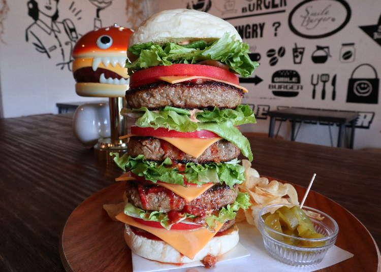 Grabbing Kyoto's Outrageous Mega-Burgers at Smile Burger!