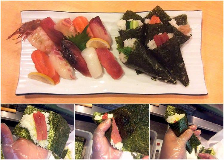 日本米推薦在地精選料理③:壽司 海鮮料理 喜醉(大阪)/使用新鮮食材DIY「手卷」
