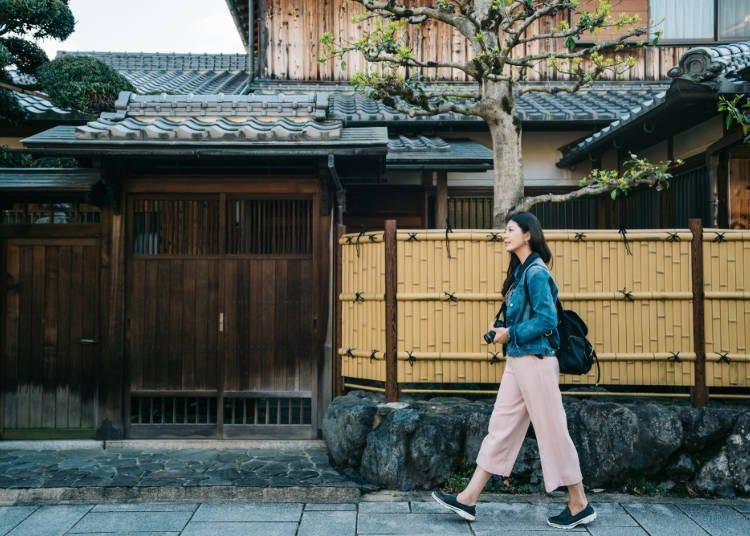 ■6:歩きやすい靴と、暑さ寒さ対策ができる服装で